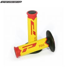 Pro Grip 788 Triple Density Full Diamond Grips Limited Edition Red LE - Red End / Yellow Centre / Black Inner